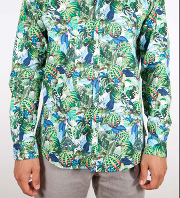 Poggianti 363 Emerald Flower L/S Shirt