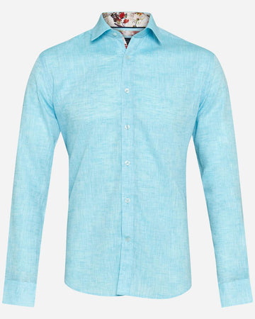 Thomson & Richards L/S Shirt Pogba Turquoise