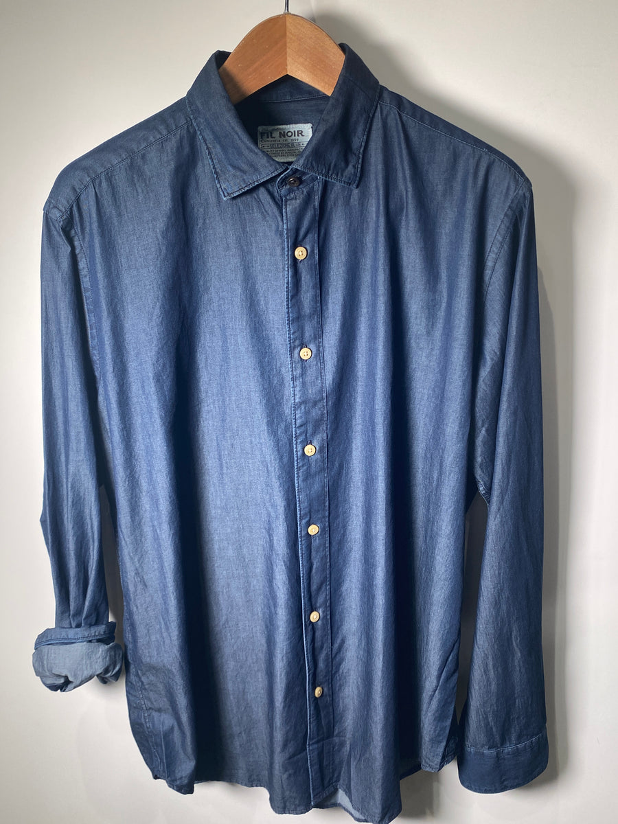 Fil Noir L/S Shirt Nightblue