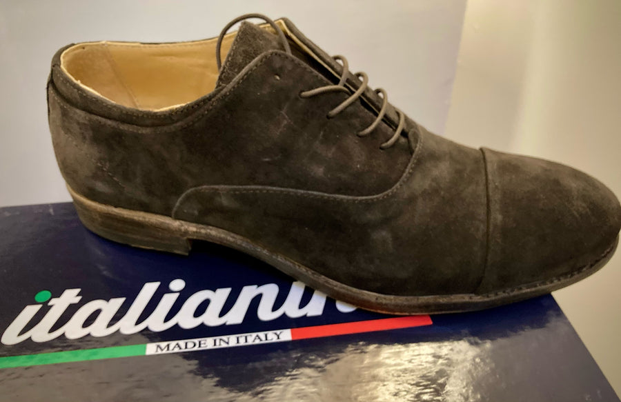 Italianino Brown Suede Oxford