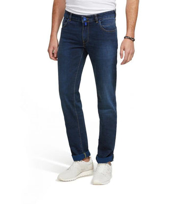 Meyer M5 Blue Wash Jeans Slim - Alexanders on Tennyson