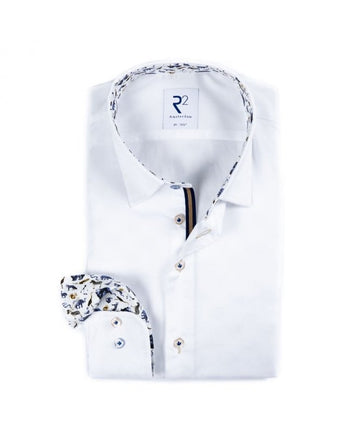 R2 L/S Shirt White Fine Twill 4004