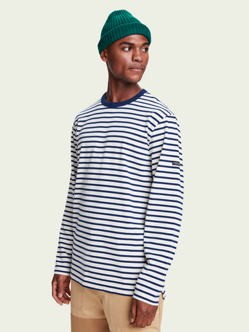 Scotch & Soda Striped Organic Cotton Jersey