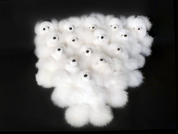 Set of 15- 30 Alpaca Fur Teddy Bears 6 IN - Alpaca Retail