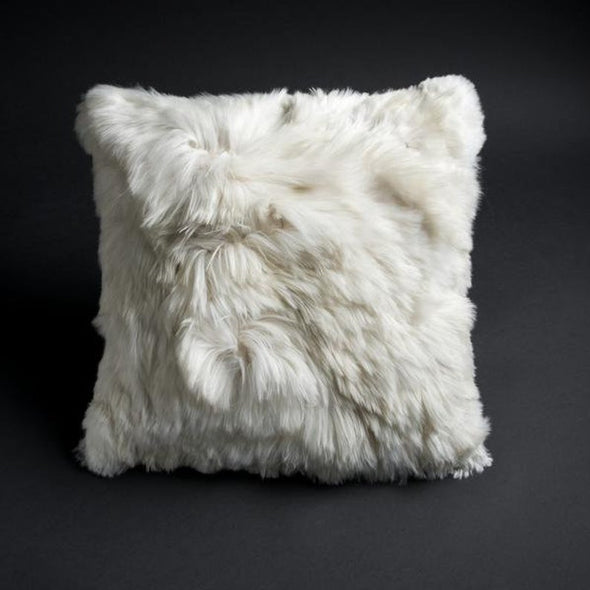 20″ x 20″ White Alpaca Suri fur Pillow cover - Alpaca Retail