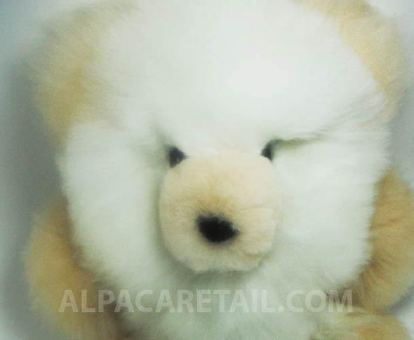 15 IN 14 IN  10 IN 9IN Alpaca Fur Teddy Bear Real Alpaca fur-Stuffed Toy - Alpaca Retail