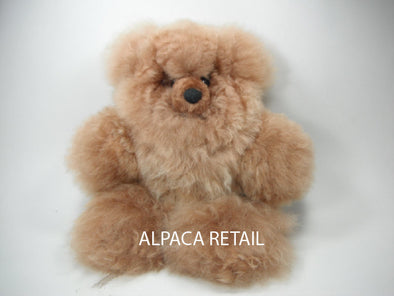 12 IN  Alpaca Fur Teddy Bear Real Alpaca fur-Stuffed Toy -Peruvian Toy from Artisans Alpaca Stuffed Animals - Alpaca Retail