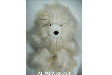13 IN  Alpaca Fur Suri Teddy Bear Real Alpaca fur-Stuffed Toy -Peruvian Toy from Artisans Alpaca Stuffed Animals - Alpaca Retail