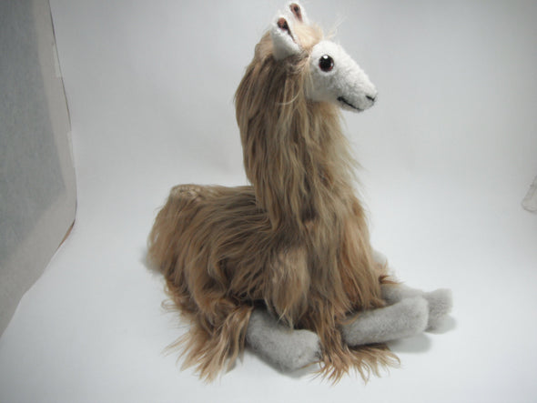 11 IN  Handmade Alpaca Suri Stuffed Animal Plush Alpaca  Fur - Alpaca Retail
