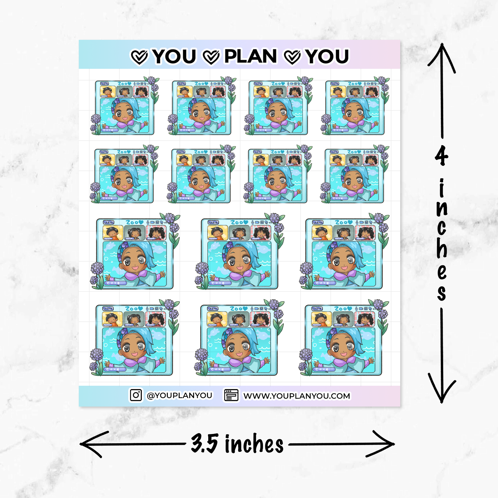 Cove Video Conference / Zoom Call Planner Stickers
