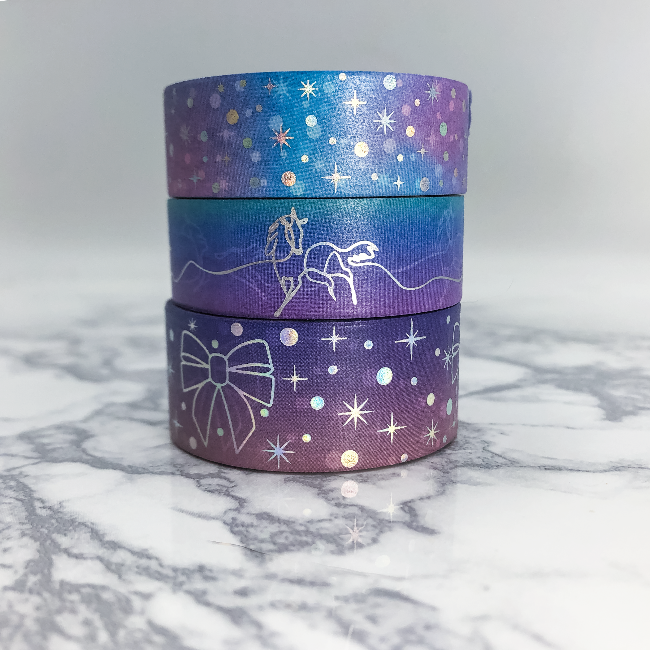 Chase The Stars Holographic Foiled Washi Bundle