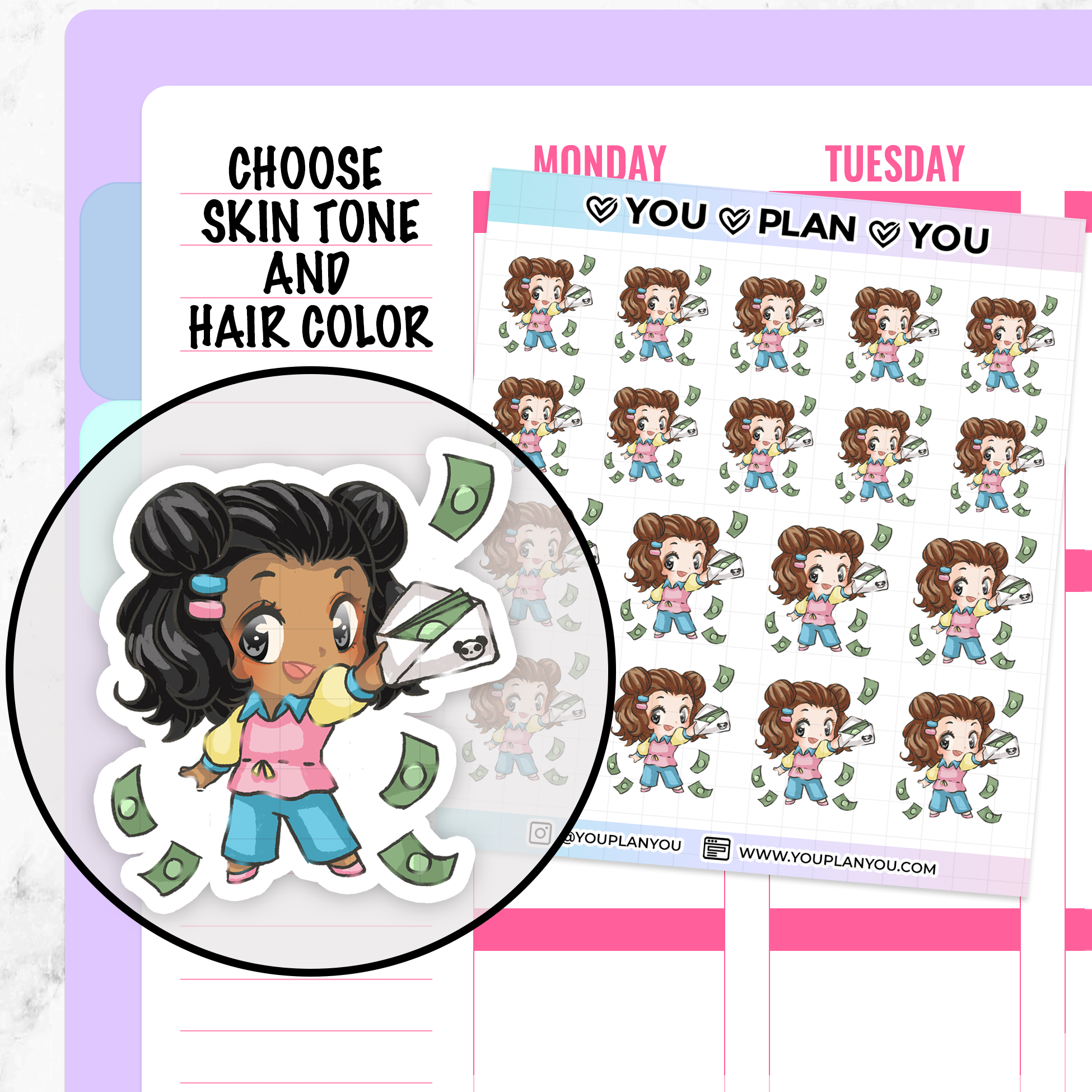 Pandora Pay Day Planner Stickers