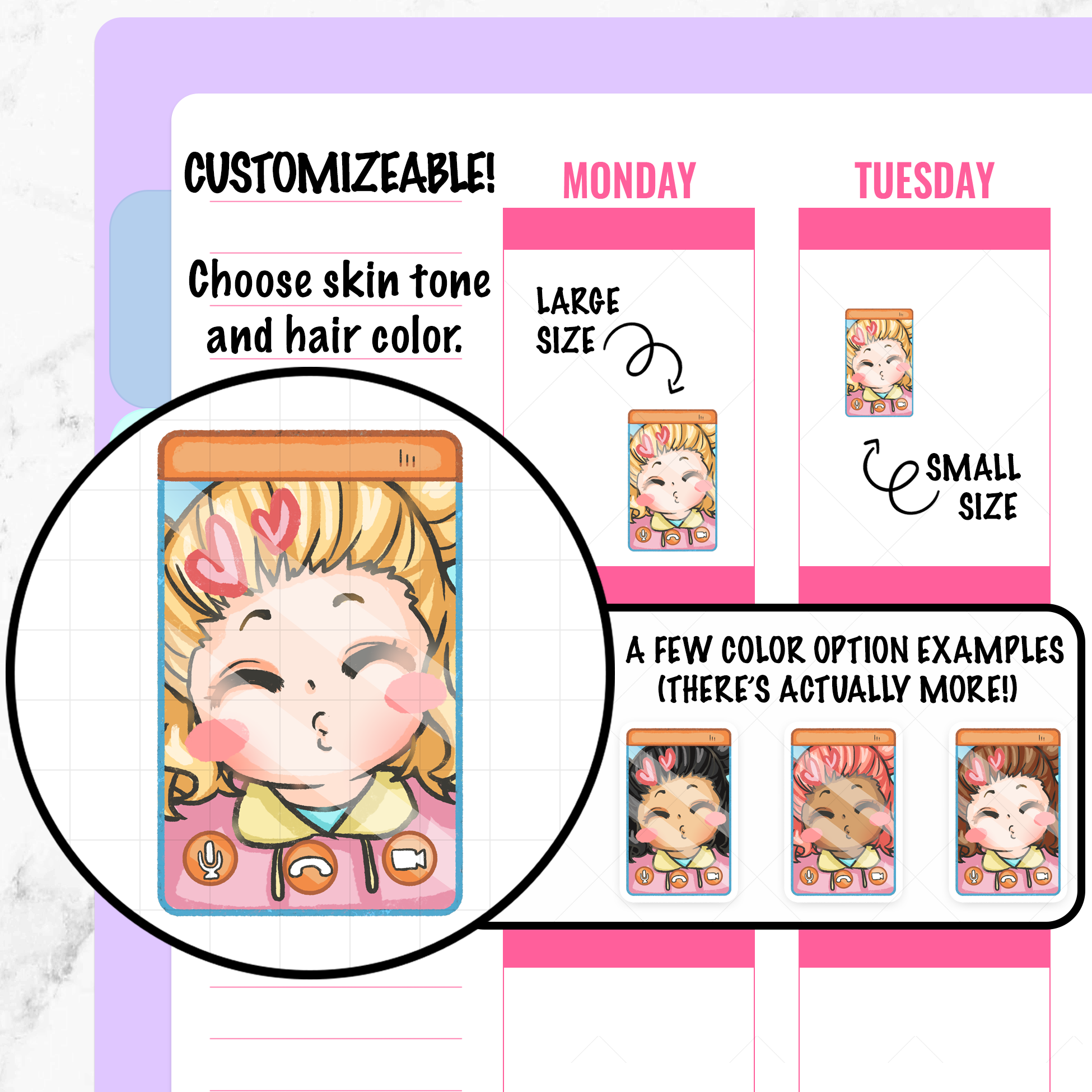 Pandora Video Chat Planner Stickers