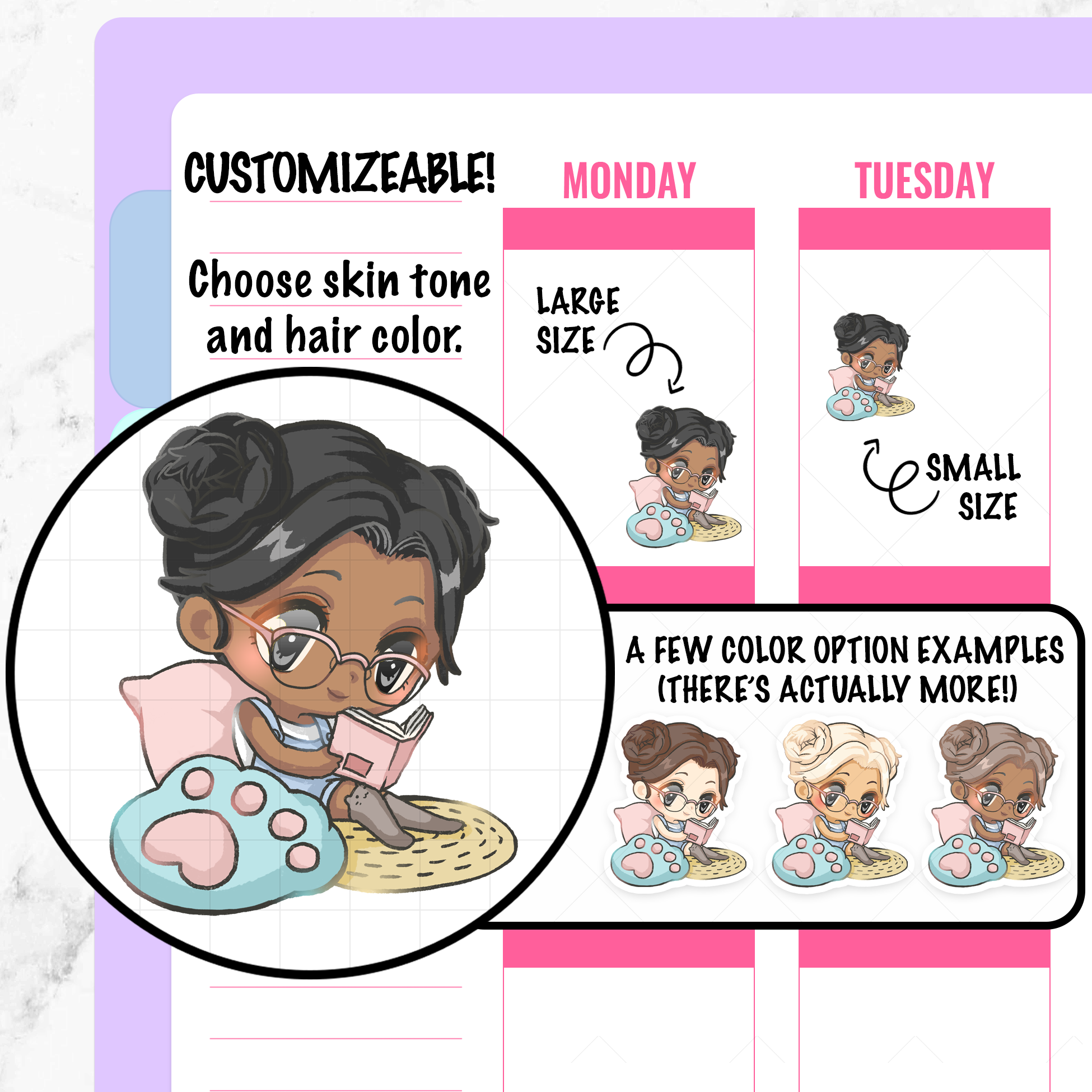 Callie Reading Planner Stickers