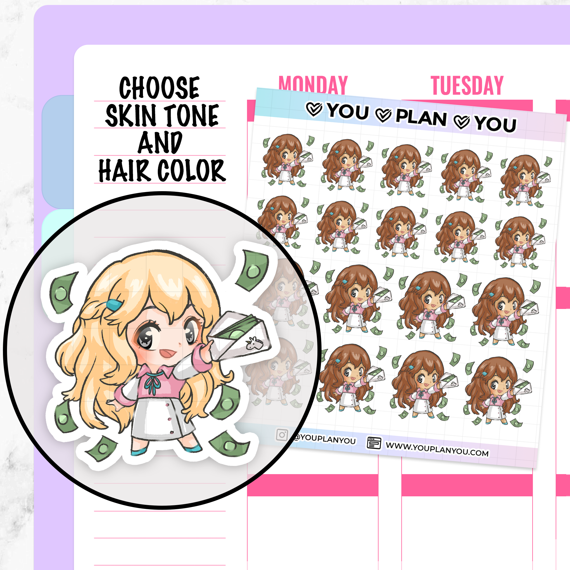 Cornelia Pay Day Planner Stickers