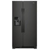 24.4 Cu Ft., Exterior Water And Ice Dispenser, Tap Touch Controls, Led Lighting, 1 Fixed/2 Adjustable Shelves, 1 Hc Crisper, 5 Door Bins, Can Caddy