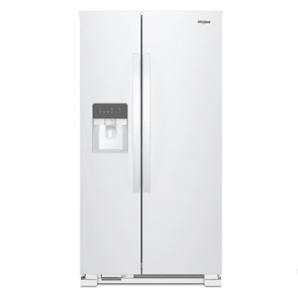 21.4 Cu Ft., Exterior Water And Ice Dispenser, Electronic Controls, Led Lighting, 1 Fixed/2 Adjustable Shelves, 1 Hc Crisper, 4 Door Bins, Energy Star