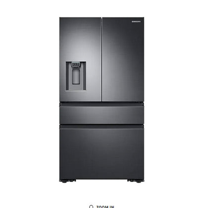 22.6 cu. ft. Counter Depth 4-Door French Door Refrigerator in Black Stainless Steel