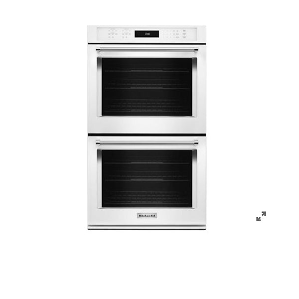 "27"" Double, 4.3 Cu Ft./4.3 Cu Ft, True Convection, Hidden Bake, Self Clean,Extra Large Window, Fit System, Flush Install Option"