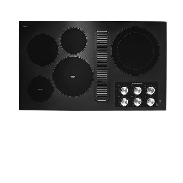 "36"" Radiant Downdraft Knob Cooktop ,Black"