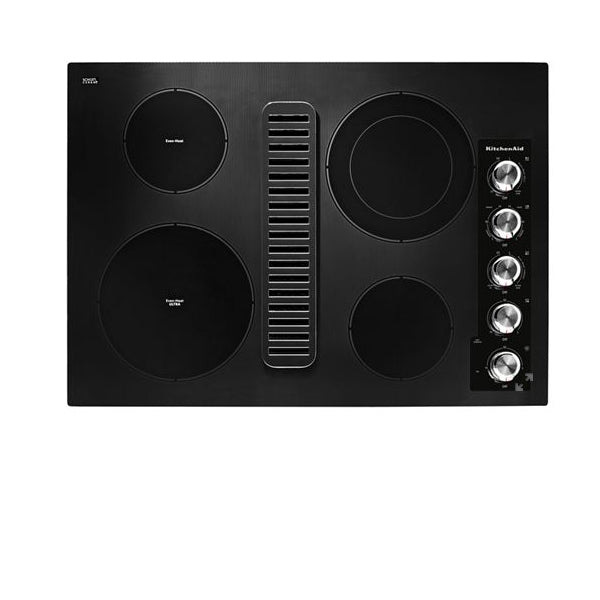 "30"" Radiant Downdraft Knob Cooktop ,Stainless Steel"