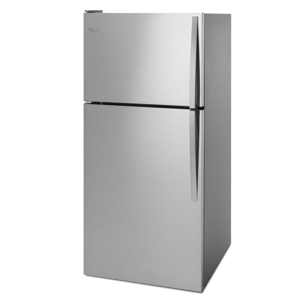 "Whirlpool® 30"" Wide Top-Freezer Refrigerator- 5.3 cu. ft. Whirlpool® electric range-Front Load Washer with LuxCare-Front Load Perfect Steam™ Electric Dryer"