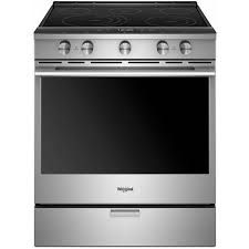 6.4 Cu. Ft. Smart Contemporary Handle Slide-in Electric Range with Frozen Bake? Technology