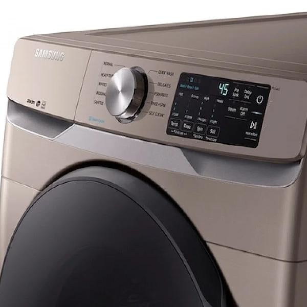 Samsung  5.2 cu. ft. Front Load Washer & 7.5 Cu.Ft. Electric Dryer Pair WF45R6100AC-DVE45T6100C