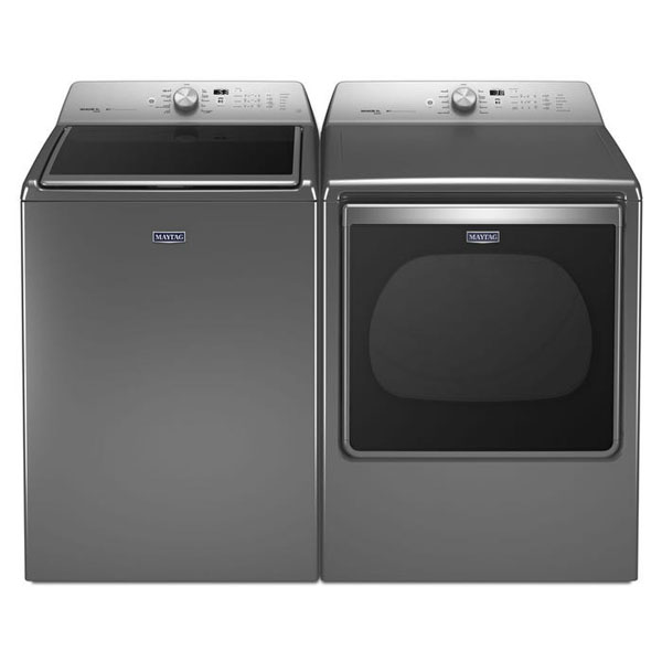 "Maytag TOP LOAD WASHER WITH THE DEEP FILL OPTION AND POWERWASH® CYCLE €"" 6.0 CU. FT. and 8.8 CU. FT EXTRA-LARGE CAPACITY DRYER WITH STEAM REFRESH CYCLE"
