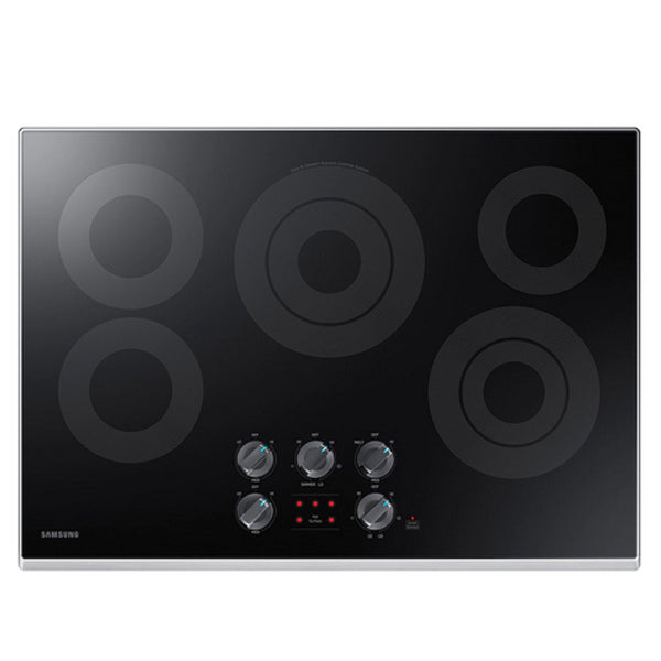 "NZ30K6330RS Electric Cooktop with 6/9"" 3.3 kW Rapid Boil Burner, 9.5 kW"