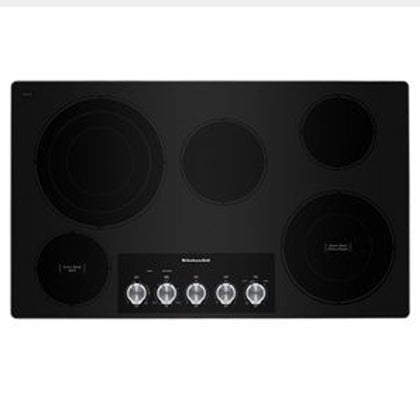 Electric Cooktop with 5 Elements and Knob Controls