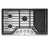 "30"" Gas, 5 Burners, 17K, 10K, 9.1K, 9.1K, 5K (Btus), Knob Controls, Ez-2-Lift  Grates With Griddle"