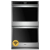 "30"" Double, 5.0 Cu Ft. / 5.0 Cu Ft., Smart Appliance, True Convection (Upper & Lower), Hidden Bake, Self Clean And Steam Clean Option (Both), Extra Large Window, Digital Meat Thermometer, Fit System,"