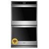 "27"" Double, 4.3 Cu Ft. / 4.3 Cu Ft., Smart Appliance, True Convection (Upper & Lower), Hidden Bake, Self Clean And Steam Clean Option (Both), Extra Large Window, Fit System"