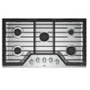 "36"" Gas, 5 Burners, 15K, 12K, 9.1K, 9.1K, 5K (Btus), Knob Controls, Ez-2-Lift  Grates"