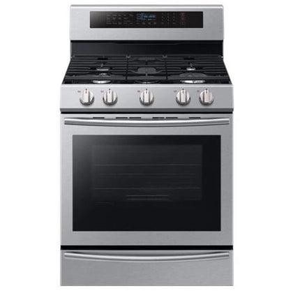 Samsung NX58M6650WS/AC Gas Range with 20 K BTU Dual Burner - Stainless Steel