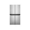 36-inch Wide Counter Depth 4 Door Refrigerator - 19.4 cu. ft. -  5.3 cu. ft. Freestanding Electric Range with Fan Convection Cooking - Top Control Large Capacity Dishwasher in Stainless Steel
