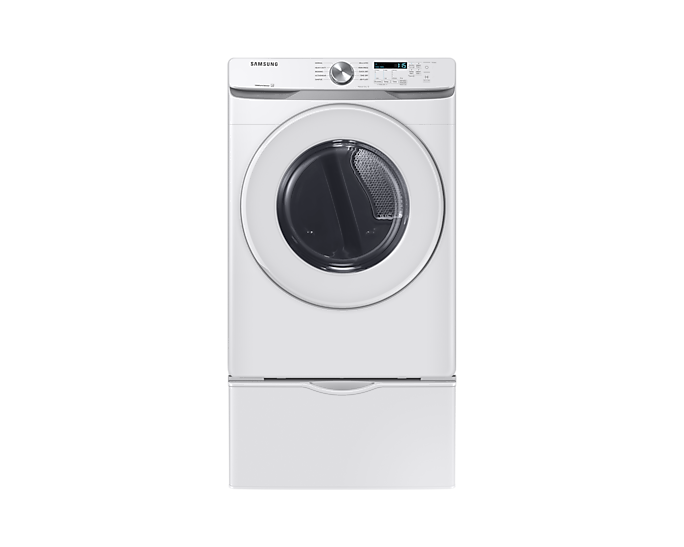 SAMSUNG 5.2 cu.ft, VRT+®, Energy Star®, Swirl Drum+, Smartcare, Shallow Depth(WF45T6000AW/A5) / 7.5 cu.ft. Electric Dryer with Shallow Depth in White