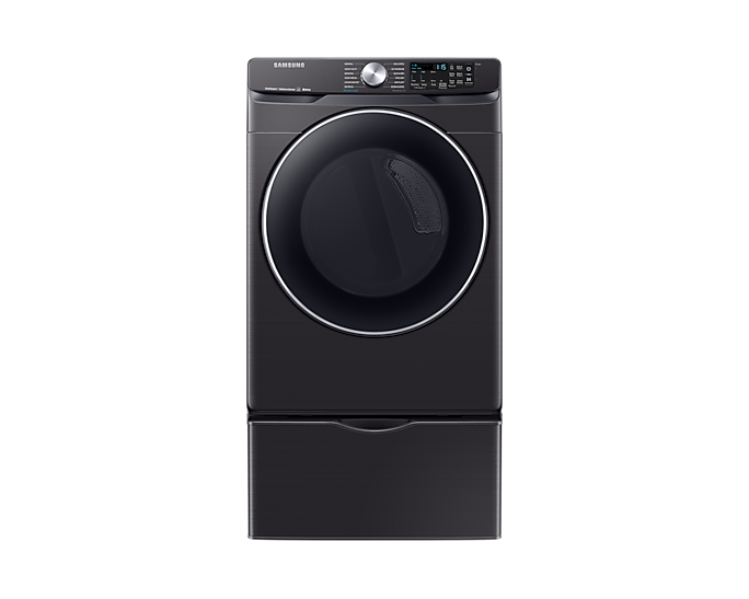 Samsung DVE45R6300V 7.5 cu. ft. Smart Electric Dryer with Steam Sanitize+ in Black Stainless Steel
