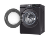 5.2 cu. ft. Smart Front Load Washer with Super Speed in Black Stainless Steel / 7.5 cu. ft. Smart Electric Dryer with Steam Sanitize+ in Black Stainless Steel
