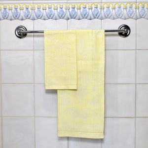 Set de 2 Guest Towel ALGODON DAMASCO (Amarillo Claro)