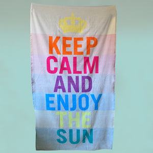 Toalla de Playa Keep Calm
