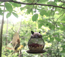Load image into Gallery viewer, Cat Shaped Vintage Outdoor Bird Feeder - Home Hunt