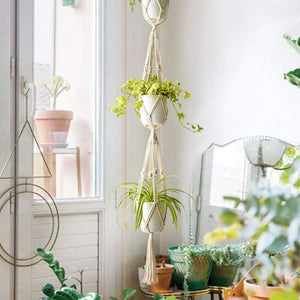 5 Handmade Plant Hangers - Set of 5 - Home Hunt
