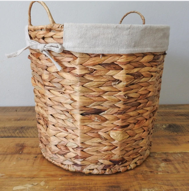 Basket - Grass Woven Wire Basket