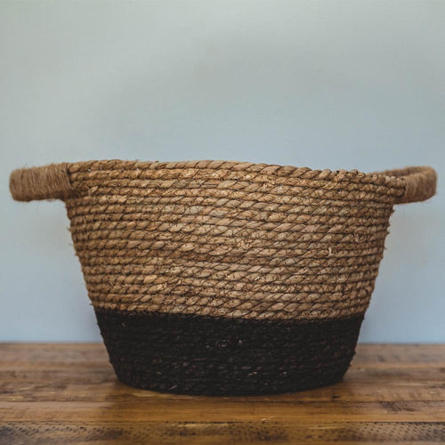 Basket - Black with Natural tone