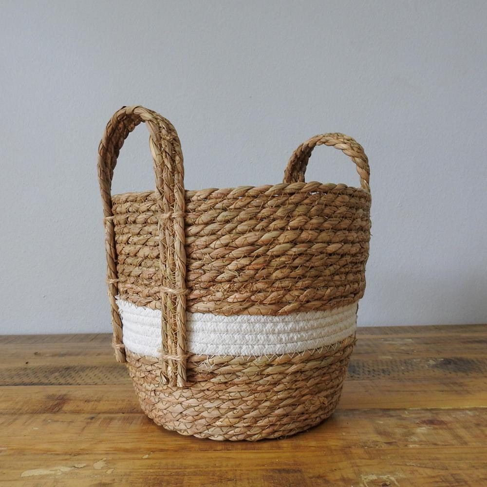 Basket - Natural & White tone basket