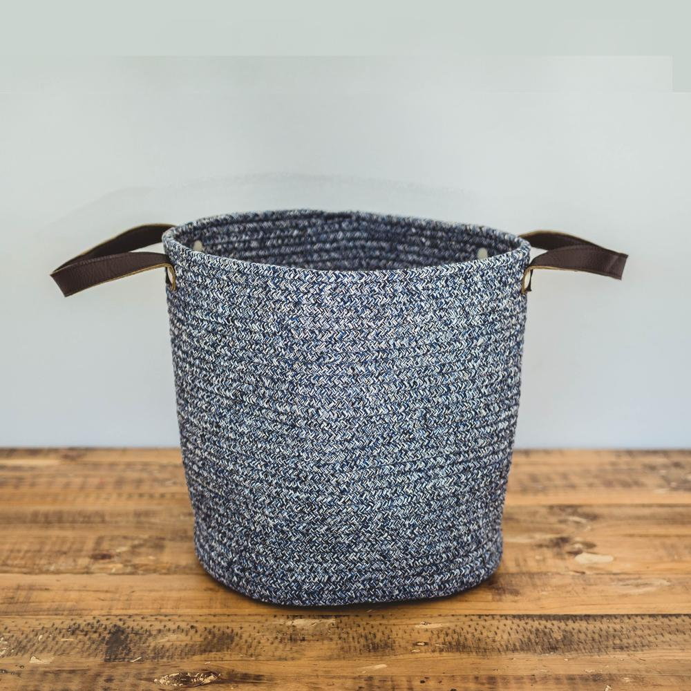 Basket - Blue cotton basket