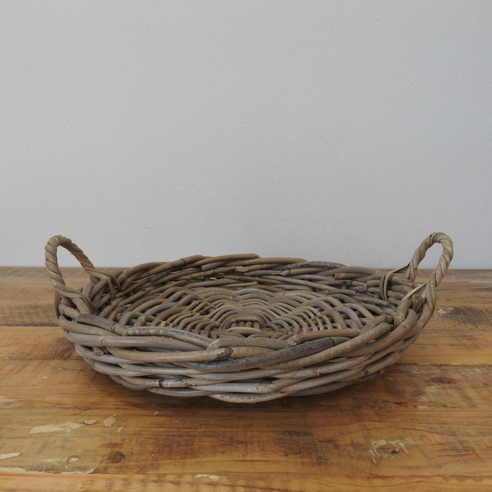 Basket - Grey Tray Basket