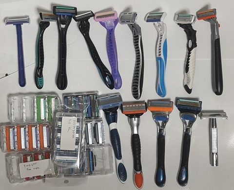 Some of the shavers we tested.